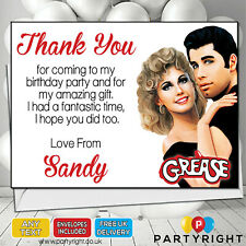 Personalised Grease Movie Thank You Cards • Your Text •