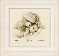 Baby & Teddy: Birth Record :  Vervaco Counted Cross Stitch Kit  PN0155574