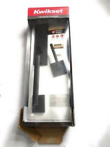 Kwikset Vancouver SmartKey Handleset with Halifax Door Lever, Matte Black