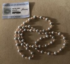 Natural Pearls Necklace Gem TV With Certificate Of Authenticity