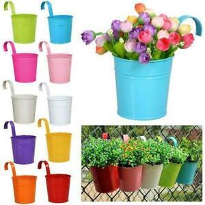 10er Hängetöpfe Set Pflanztopf Blumentopf Übertopf Pflanzenhalter mit Haken Deko