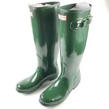 Hunter WFT1000RGL Womens Size 10 Original Tall Hunter Green Gloss Rain Boots