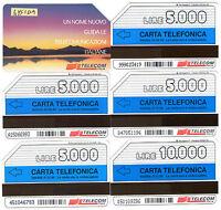 SCHEDE TELEFONICHE ITALIA  3 SCHEDE NATALE usate C/&C 2631-2632-2633