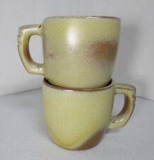"Frankoma Desert Gold ""Plainsman"" Coffee Mugs"