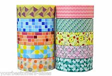Decorative Washi Tape Lot Craft Supplies Scrapbooking Supplies 10 Pack Assorted