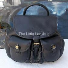 DOONEY & BOURKE Black Glove Leather Drawstring Backpack Purse Handbag GORGEOUS!