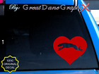 Greyhound in HEART -Vinyl Decal Sticker -Color Choice -HIGH QUALITY