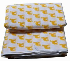 Camel Ship of Registhan Hand Block Print Cotton Fabric Natural Printed Yellow FB