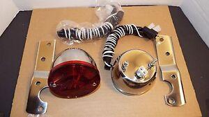 1955 1956 1957 1958 1959 CHEVROLET TRUCK GMC STAINLESS 2 TAILLIGHT &  BRACKETS