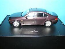 BMW 740I E65 2001 in Deep Burgundy BMW Dealer model by  Minichamps 1:43rd.