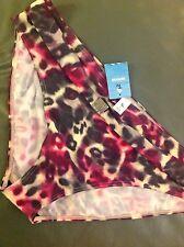 BNWT TU Ladies Pink / Purple Mix Polyester Bikini Bottoms Size 22 RRP £15.00