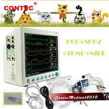 vet veterinario ICU Monitor paziente NIBP SPO2 TEMP ECG RESP frequenza del polso