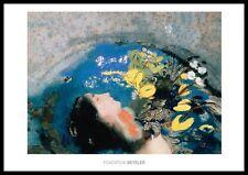 Odilon Redon Ophelie poster immagine stampa d'arte nel quadro in alluminio in nero 70x100cm