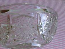 Bleikristall - Schale- Schüssel - Sternschliff - Handarbeit - Durchm. 16 cm  Neu