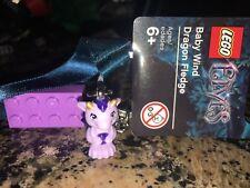 Lego Elves Keyring with a baby dragon & purple brick - 853563