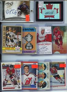 PREMIUM AUTO JERSEY ROOKIE VINTAGE INSERT #'D NHL HOCKEY CARD COLLECTION LOT $$