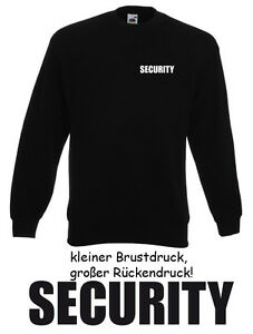10 Stck. SECURITY SWEATER - Gr. S bis XXXL