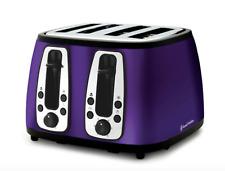 Russell Hobbs Heritage 4-Slice Toaster - Purple - Designer - S/Steel - New