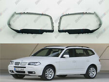New OEM Headlight Glass Headlamp Lens Plastic Cover (PAIR) BMW X3 E83