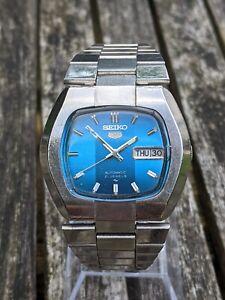 Seiko 7019-5100 Blue Graded TV Dial 1977 watch- Excellent Original Condition