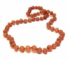 Genuine Raw Baltic Amber Beads Necklace Adult Cognac 45 cm Jewelry Natural Stone