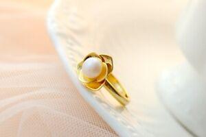 D10 Ring Freshwater Pearl IN Bloom 925 Sterling
