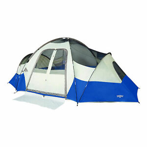 Wenzel Pinyon 10 Person 10 x 8 Feet All Weather Dome Family Camping Tent, Blue