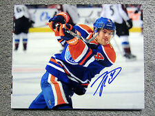 TAYLOR HALL Edmonton Oilers SIGNED Autographed 8X10 Photo w/ COA d