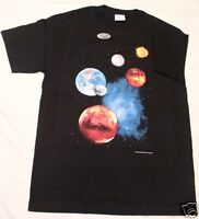 THE PLANETS  ASTRONOMY T-SHIRT. ADULT XXL.  NEW IN PACKAGE.  (Front & Back)