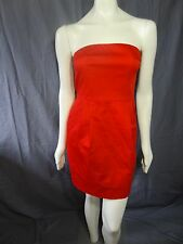 Express strapless red cotton tube knee mini dress size 10
