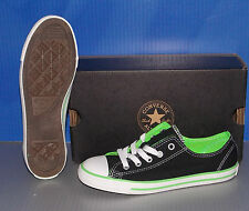CONVERSE CHUCK TAYLOR CT DAINTY DT OX BLACK / NEON GREEN SIZE 5