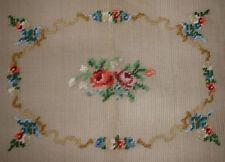 Vintage Bucilla Floral Rose Presewn Needlepoint Canvas