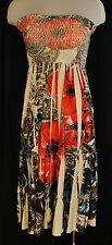 Vtg BoHo Grunge Yahada Paisley Floral Strapless Tube Top Dress / Long Skirt S