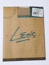 *LEO'S Dance Wear Adults Supplex Footless Tights Size C/D PERFORMANCE TAN NIP