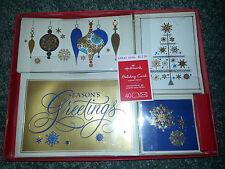 Hallmark Joy & Wonder 40 Christmas Cards & Envelopes Foil Boxed Set Assortment