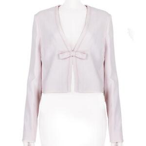 Giambattista Valli Pale Pink Cropped Jacket IT40 UK8