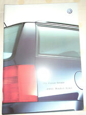 VW Passat Estate range brochure 2001 model year pub Sep 2000