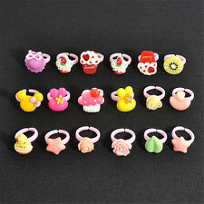 20Pcs Wholesale Mixed Lots Cute Cartoon Children/Kids Resin Rings Jewelry New H