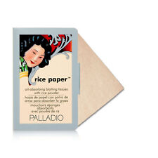 Palladio Oil Absorbing Blotting Rice Paper Tissue 40 Sheets Natural RPA3