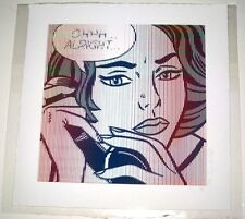 OHHH ALRIGHT LARGE EDITION MR CLEVER ART roy lichtenstein pop brainwash warhol