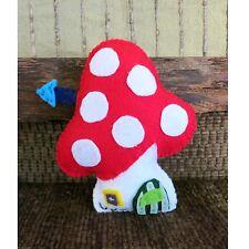 Toy Mushroom Felt House Stuffed Nursery Toy Christmas Childs Gift Amigurumi Play