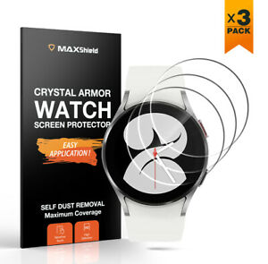 MaxShield Screen Protector for Galaxy Watch 4 Classic 40 42 44 46 Tempered Glass