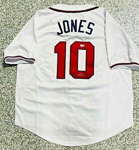 Atlanta Chipper Jones Signed Jersey White PSA DNA Autograph COA