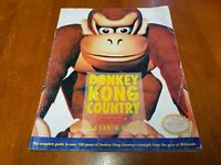 Donkey Kong Country Offical Nintendo Player's Guide SNES Strategy Guide Book