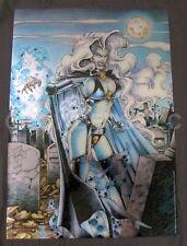 "1994 Chaos Comics Brian Pulido Lady Death Chromium Poster Krome Prod 19x27"" NM"