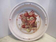 Marjolein Bastin Heavy Round Crackled Apple Basket Pie/Quince Plate
