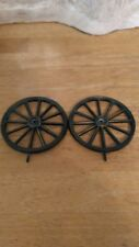 Two Cover wagon Horse Clock Wheels. With Mounting screws  Parts  only