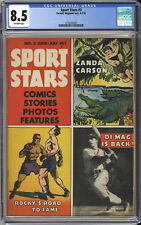 SPORTS STARS #3  CGC VF+ 8.5  SINGLE HIGHEST GRADE - Joe DiMaggio Cover - 1946