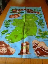 UNUSED VINTAGE IRISH LINEN TEA TOWEL - IRISH STEW