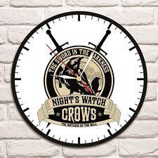 Night's Watch logo ha preso colore Design Vinile Record Orologio da parete Casa Negozio Ufficio 1